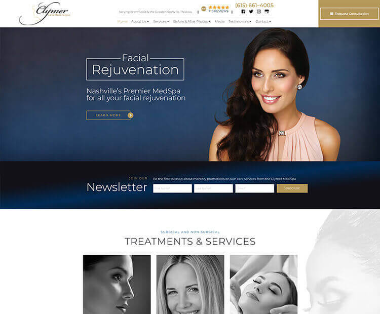 Cosmetic, Plastic Surgery Marketing - Website Design, SEO